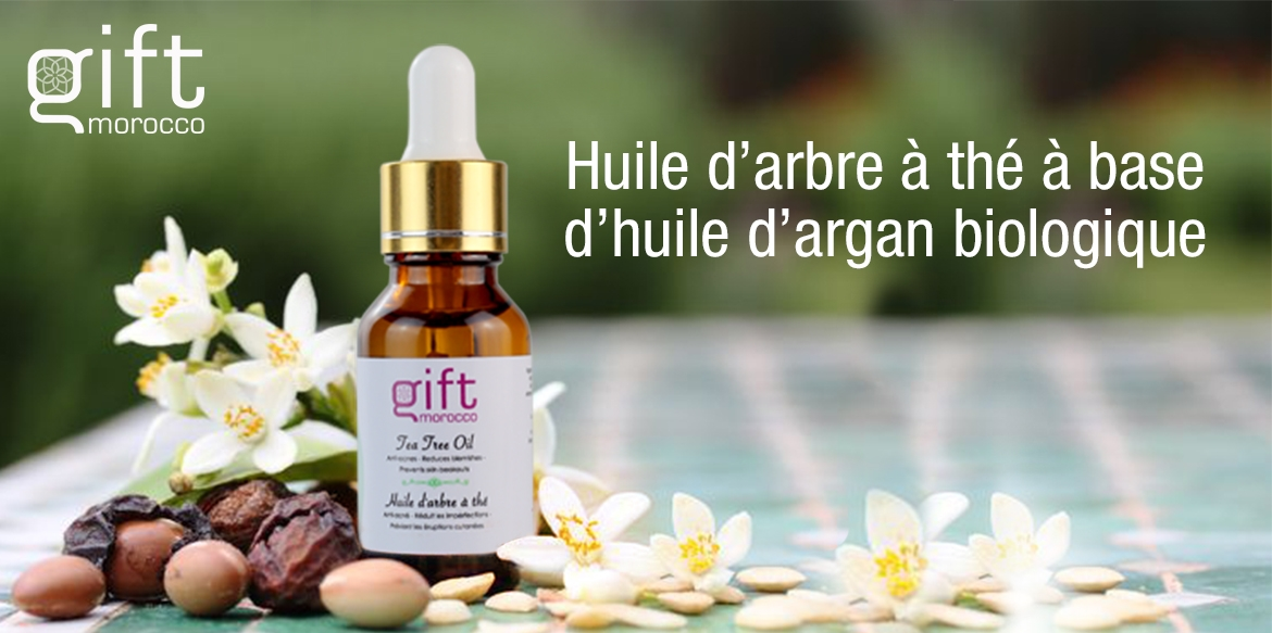 tea tree oil argan oil organic gift morocco huile d'argan biologique huile d'arbre a the